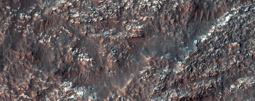 Central Peak of a Large Impact Crater in Noachis Terra