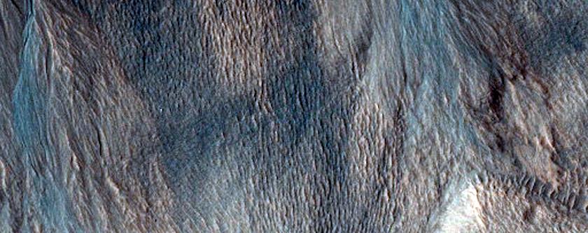 Gullies in Harmakhis Vallis