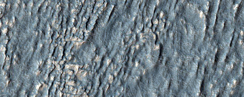Lobate Crater Fill in Southeast Hellas Montes