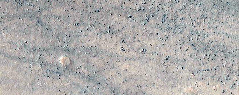 Crater in Noachis Terra
