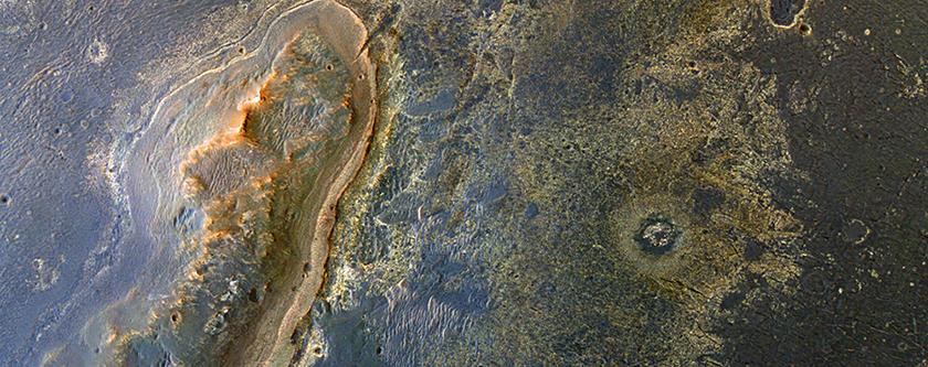 El objetivo del Opportunity: al noroeste del borde del Cráter Endeavour