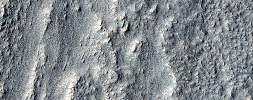 Ridges around Crater Rim Valley in Terra Cimmeria