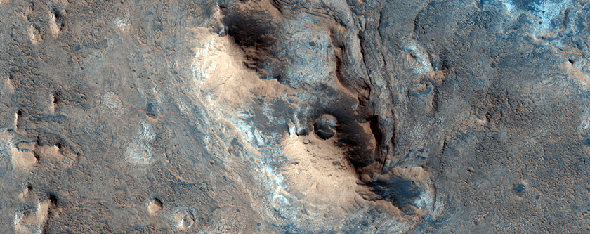 Possible Inverted Topography Landscape with Clay Minerals