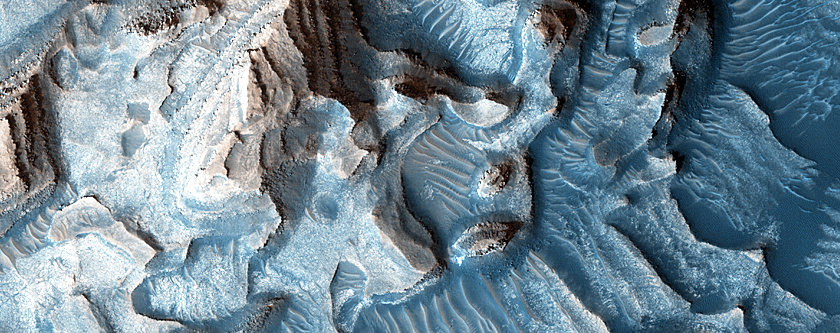 Layering in Crater West of Arabia Terra