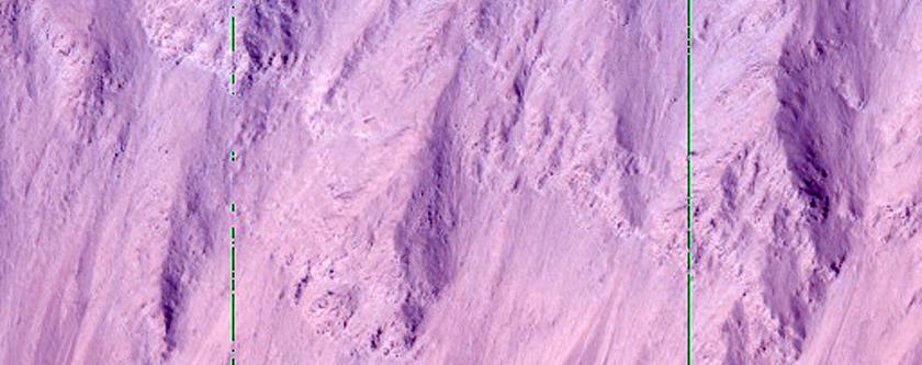 Olympus Mons Crevasse on Southeastern Scarp