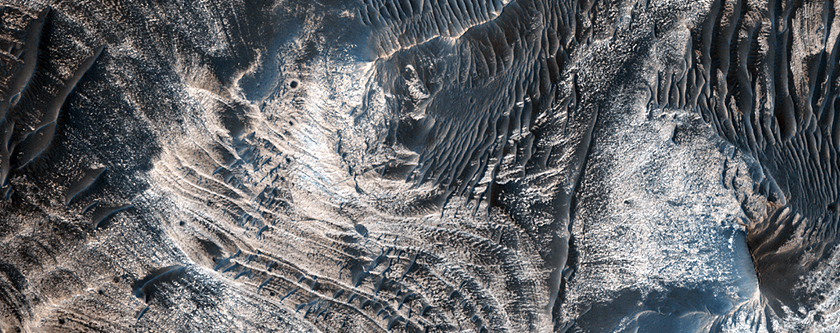 Faulted, Layered Deposits in Candor Chasma