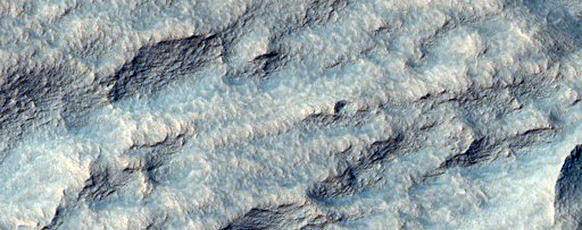 Scarp in Promethei Terra