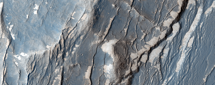 Faults in Claritas Fossae