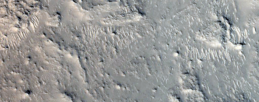 Crater Central Uplift in Arabia Terra