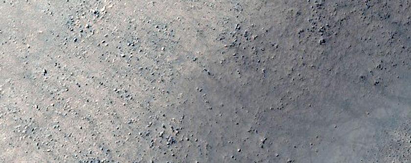 Olivine-Rich Crater Wall in Terra Sirenum
