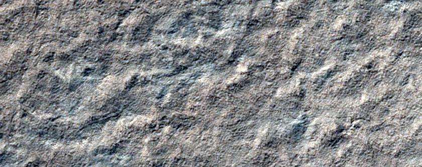 Polar Layers Exposed on Promethei Lingula Surface