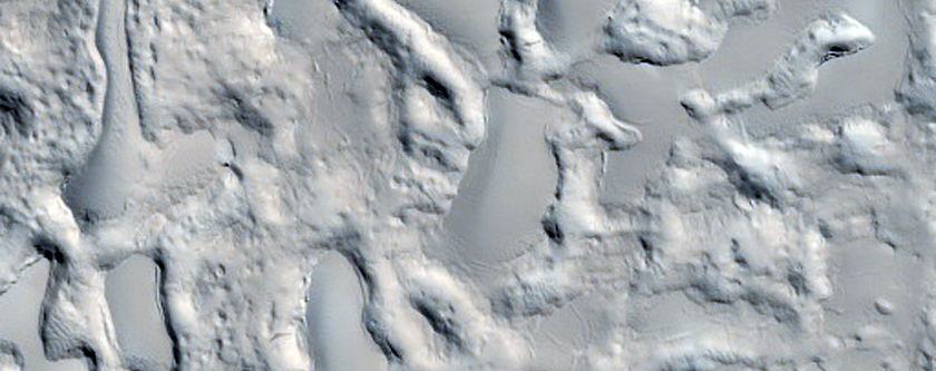 Material within Arabia Terra Crater