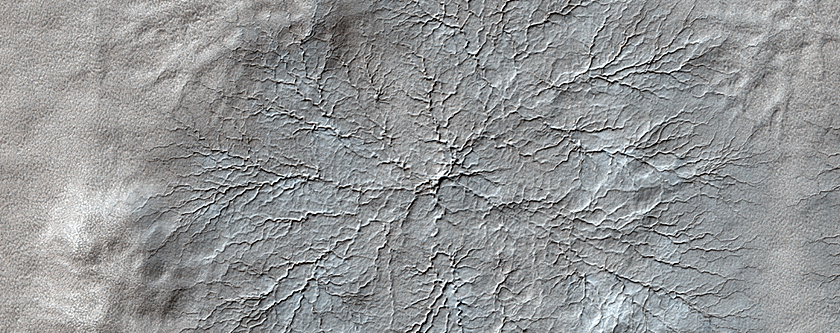 Erosion Features near the South Pole of Mars