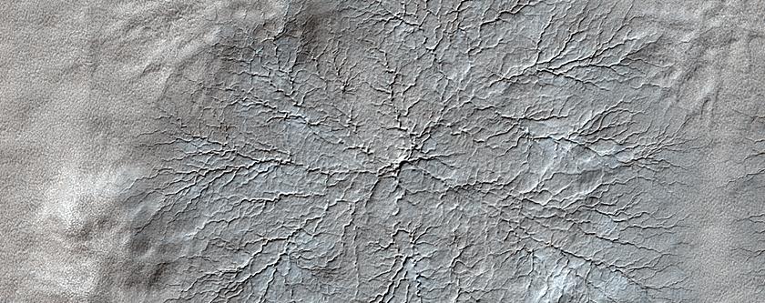 Rasgos erosivos cerca del polo sur marciano