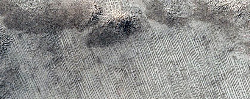 Knob in South Polar Layered Deposits