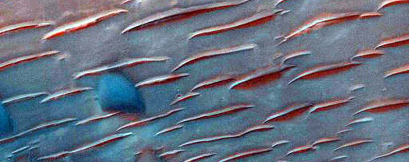 Bedrock Exposures in Nirgal Vallis