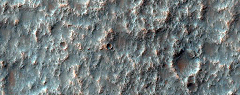 Narrow Ridges Near Mariner Crater