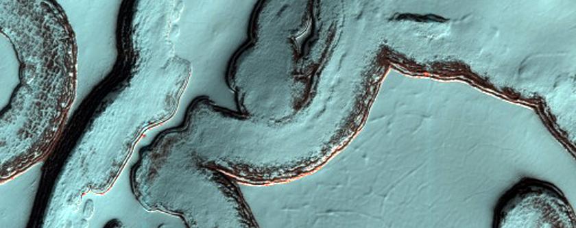 South Polar Residual Cap in Summer