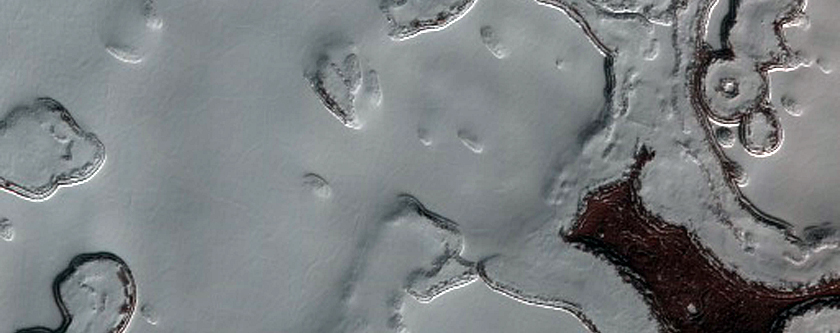 Dark Lanes in South Polar Residual Cap
