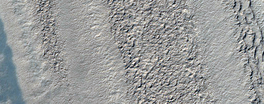 Outlier of South Polar Layered Deposits