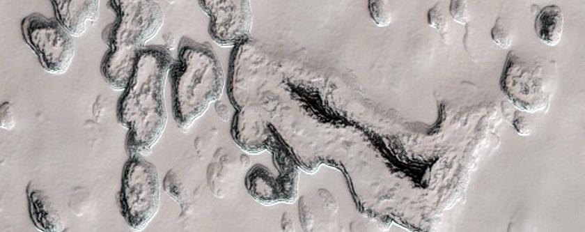 South Polar Residual Cap in Summertime