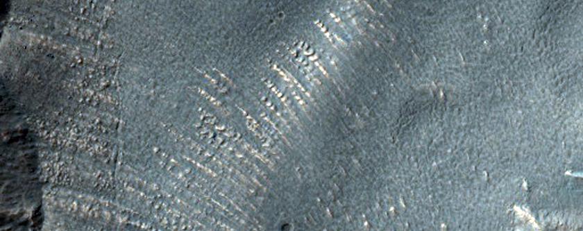 Lobate Feature in Hellas Planitia
