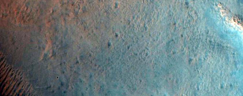 Rayed Crater with Central Peak at Acidalia Planitia-Arabia Terra Boundary