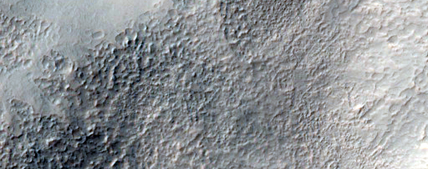 Impact Crater with Active Slope Processes