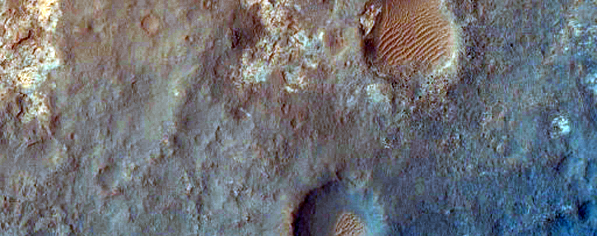 MSL Landing Site in Gale Crater