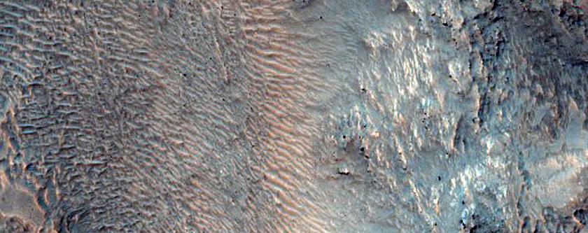 Crater in Northeast Hellas Planitia