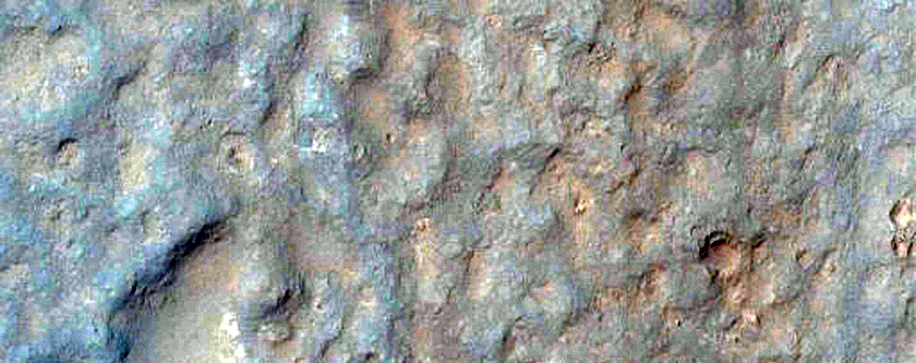 Possible MSL Rover Landing Site in Gale Crater