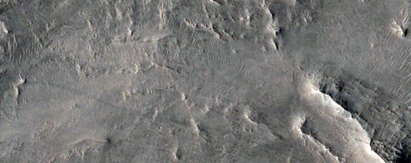 Crater Ejecta Deposit in Northeast Arabia Terra