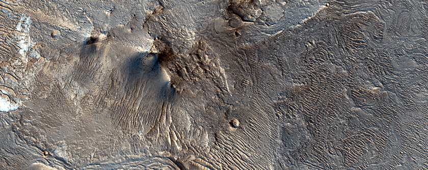Bright and Dark Terrain in Noctis Labyrinthus