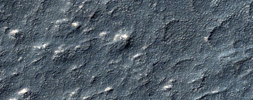 Irregular Terrain South of Reull Vallis