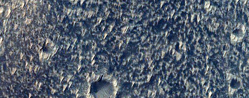 Large Pit Crater in Daedalia Planum