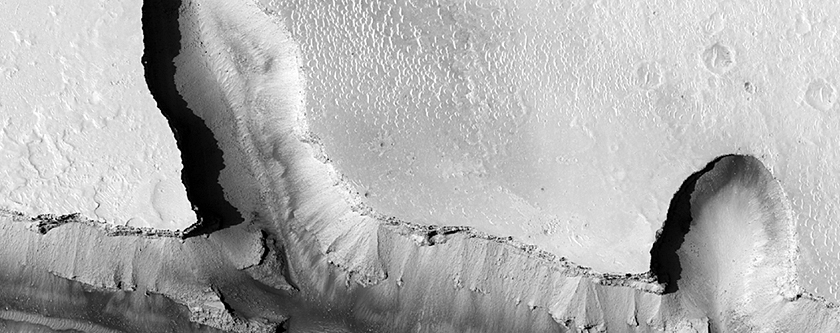 Interacting Fossae Segments East of Athabasca Valles