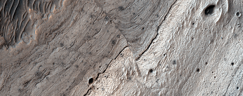 Faults in Ius Chasma