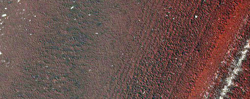 Exposure of Polar Layered Deposits Not Well Covered by Mars Global Surveyor