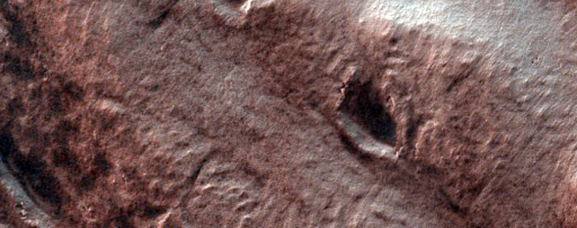 Layered Material in Spallanzani Crater