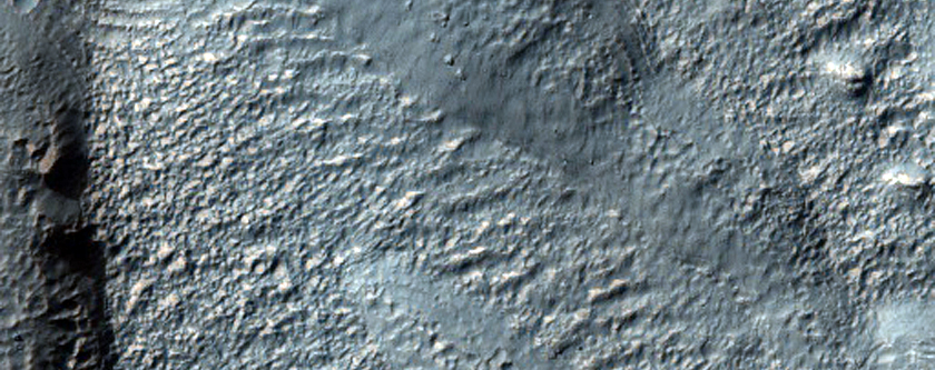 Mantling Material on Crater Floor