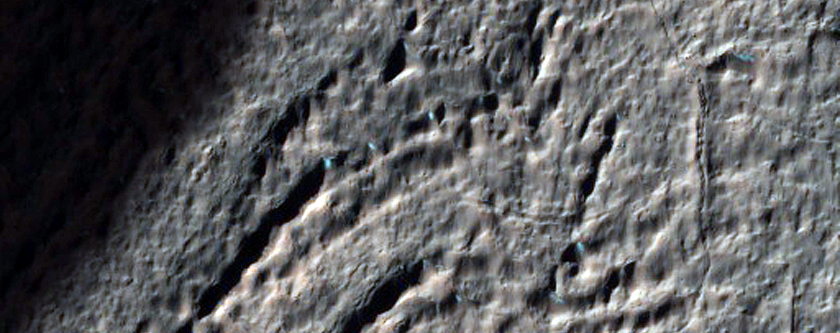 Gullied Crater with Pitted Floor