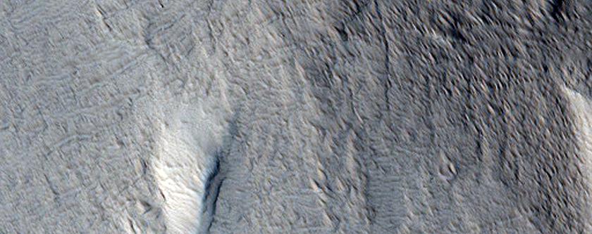 Elliptical Depression on Lower Northwest Flank of Hecates Tholus