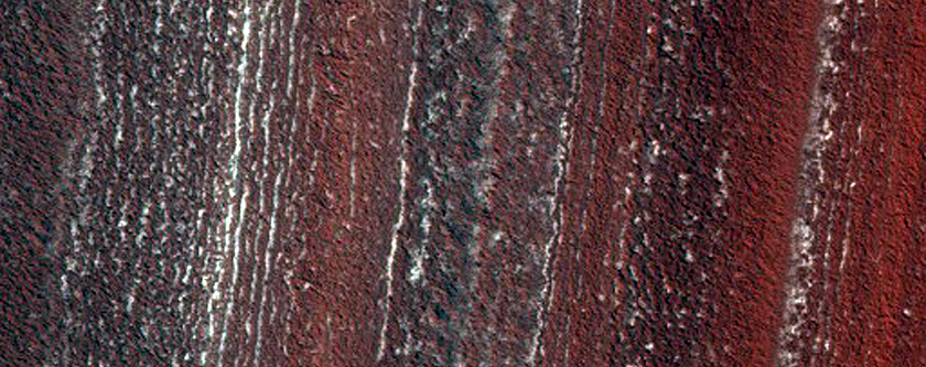 Layering in North Polar Layered Deposits (Upper Correlated Sequence)