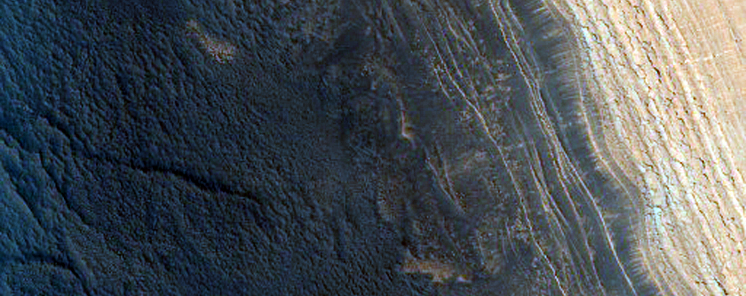 Steepest Scarp in the North Polar Layered Deposits
