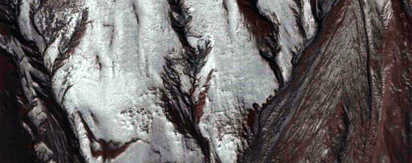 Frost Covered Gullies