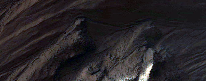 Gullied Trough in Noachis Terra