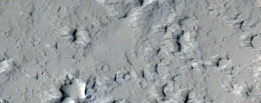 Volcanic Vent in the Tharsis Region