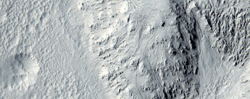 Recent Landslide in Zunil Crater