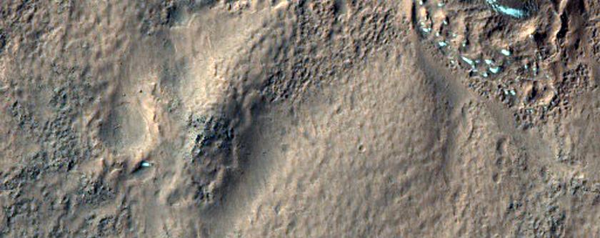 Hummocky or Mound-Like Irregular Icy Region