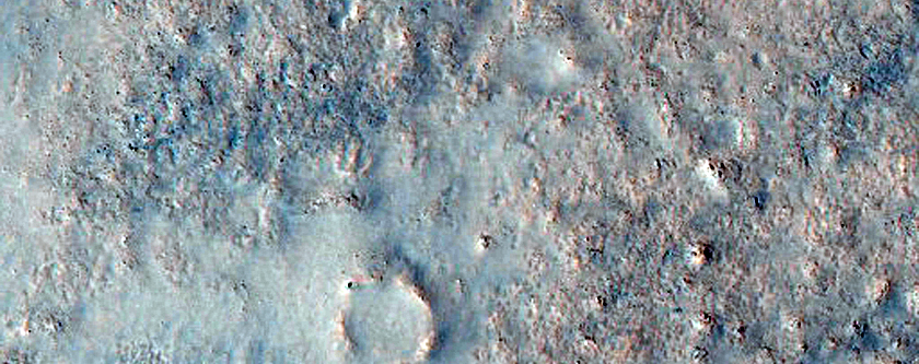 Knobby Terrain South of Crater